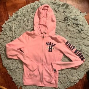 Pink Gilly Hicks Zip Up hoodie Sz S